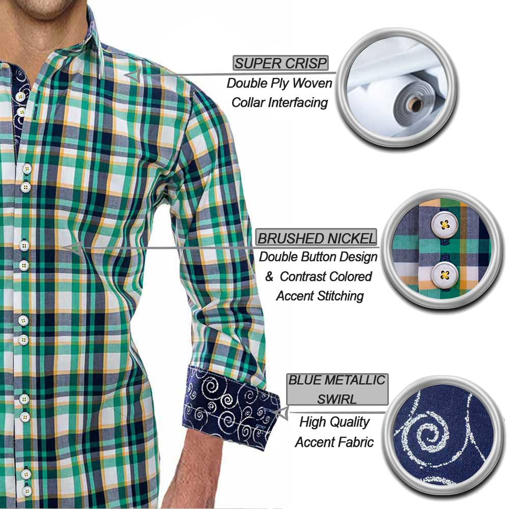 Green Plaid Dress Shirts