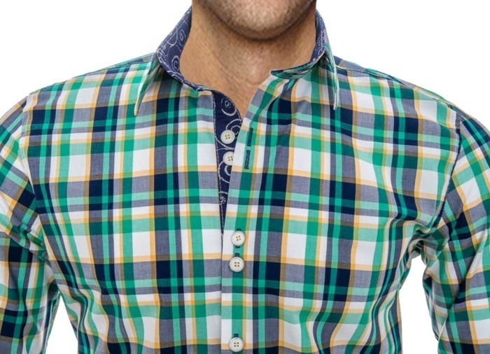 Green-Plaid-Spring-Shirts