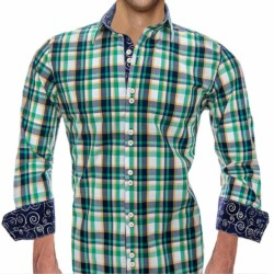 Green-and-Navy-Blue-Dress-Shirts
