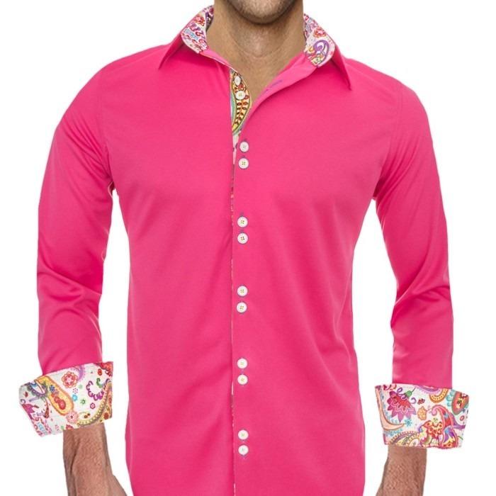 Mens-Colorful-Pink-Dress-Shirts