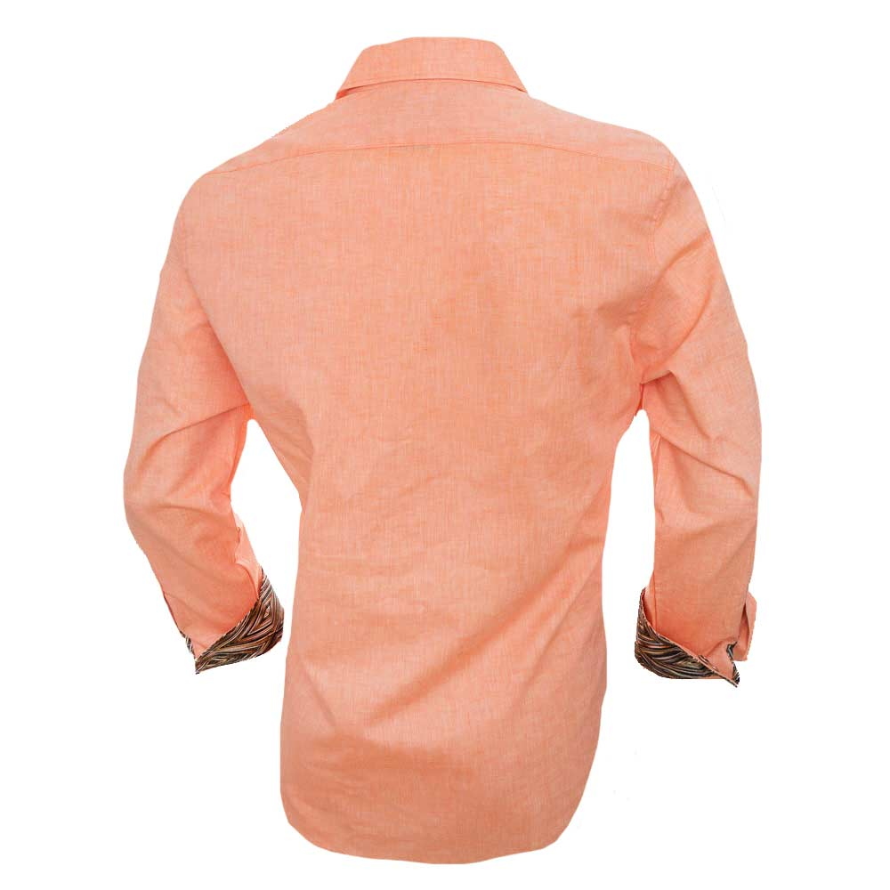Orange-Linen-Dress-Shirt