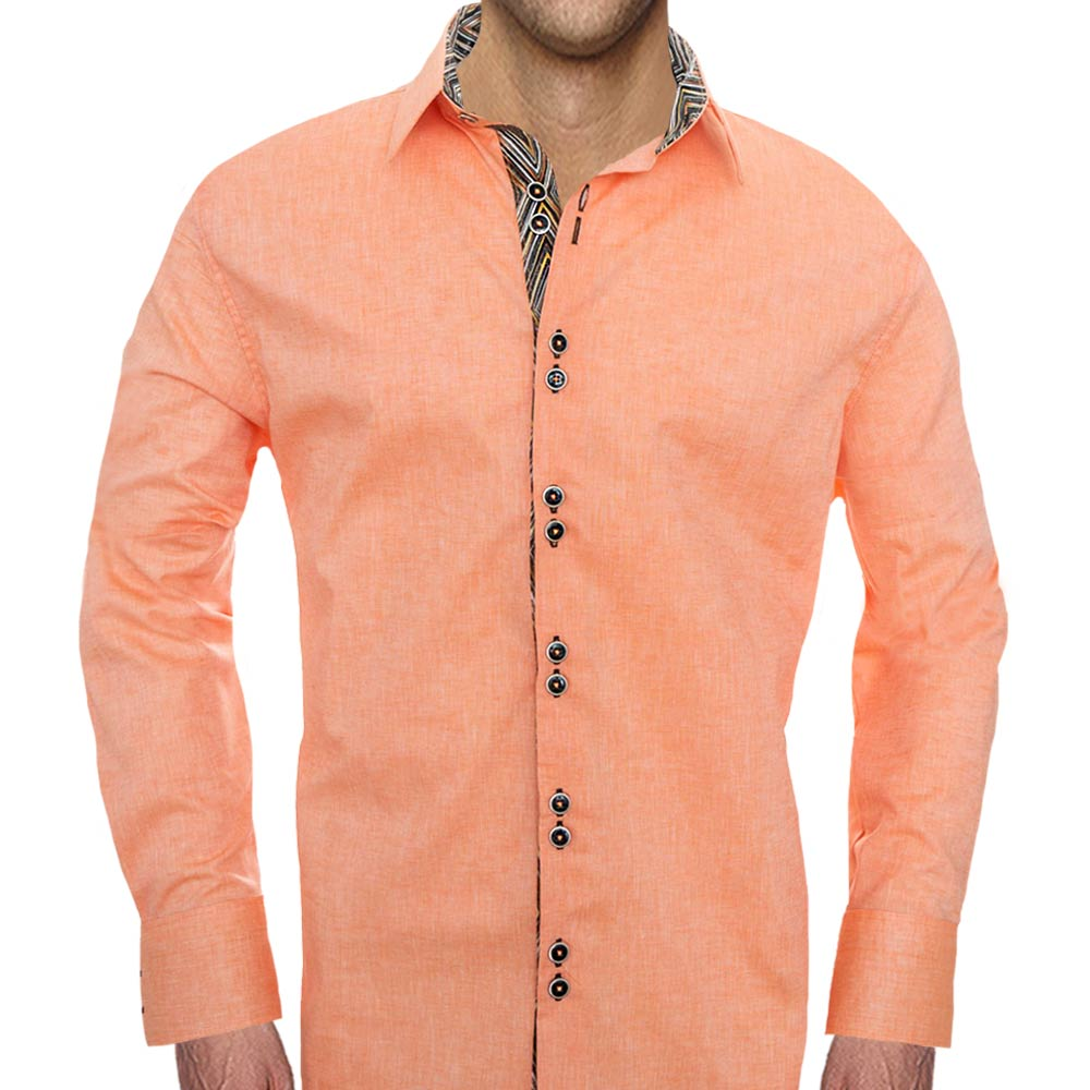 Orange-and-black-dress-shirt