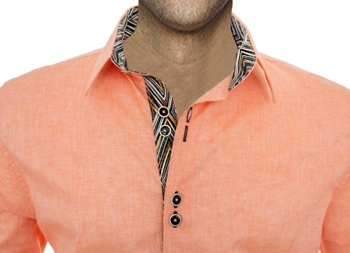 Orange-and-brown-dress-shirts