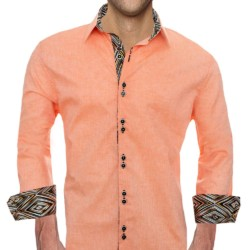 Orange-linen-Dress-Shirts