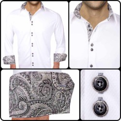 White-with-Black-Accent-Dress-Shirts