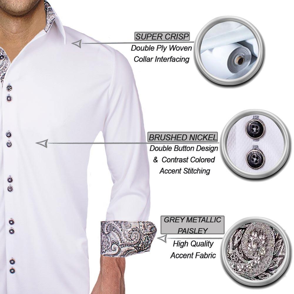 White and Black Dress Shirts