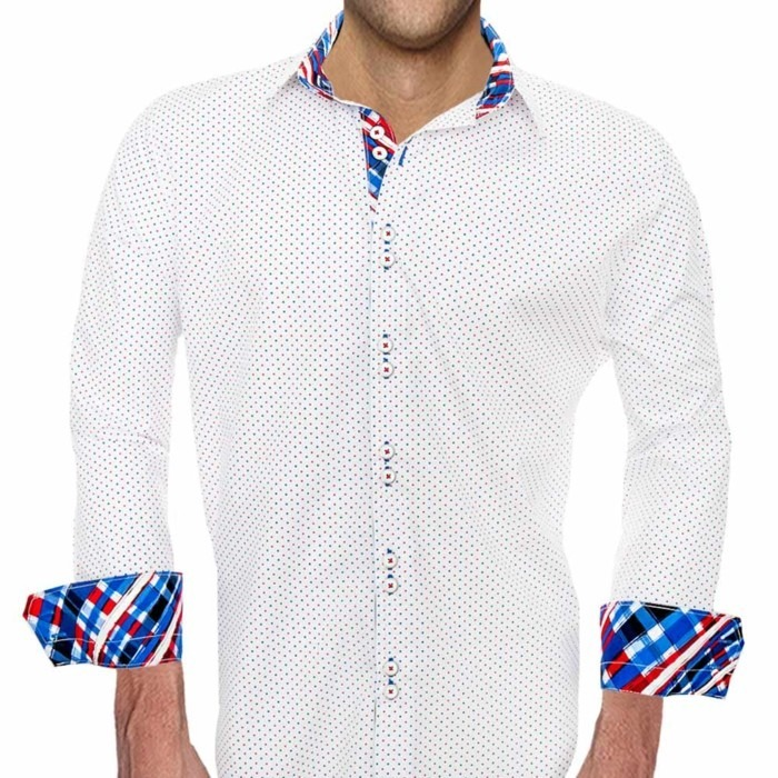 White-with-Red-and-Blue-Dress-Shirts