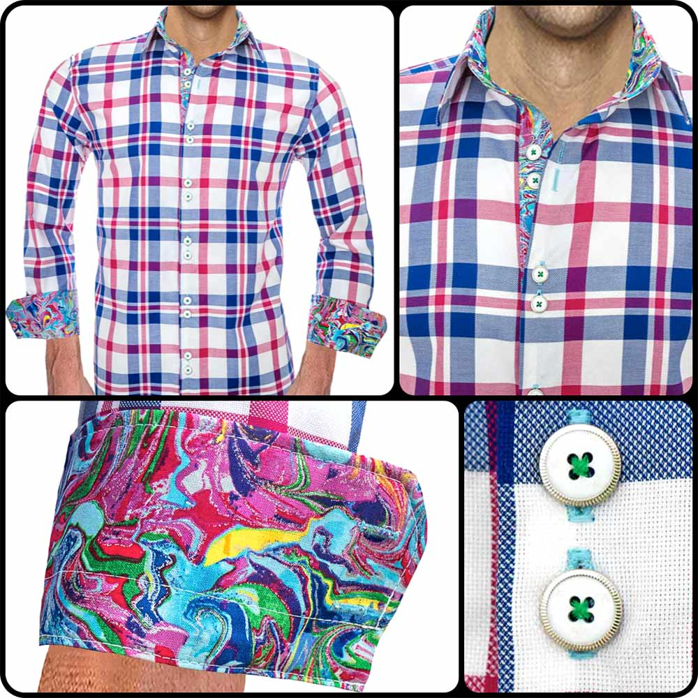 pink-and-blue-plaid-dress-shirts