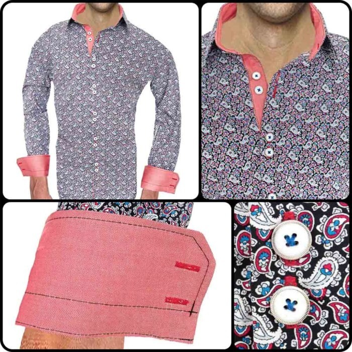 Coral-Paisley-Dress-Shirts