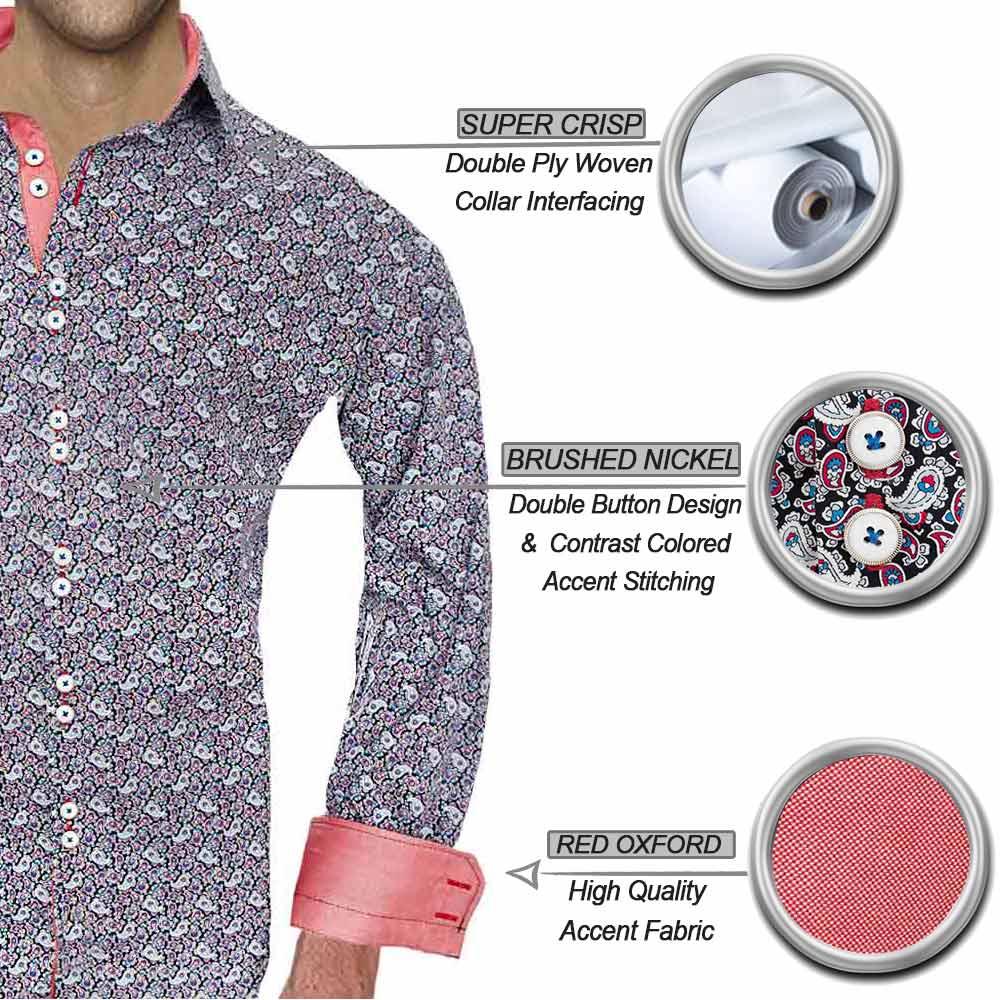 Bright Paisley Dress Shirts