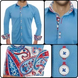 Blue Designer Dress Shirts