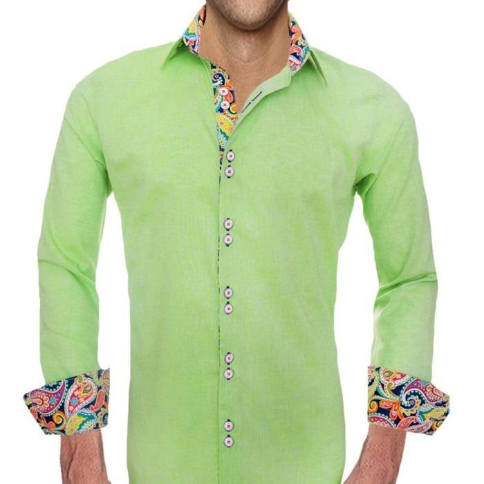 Bright-Green-Designer-Dress-Shirts