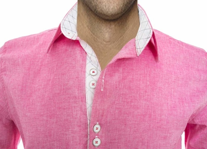 Bright-Pink-Mens-Shirts