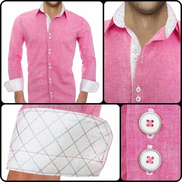 Bright-pink-mens-dress-shirts