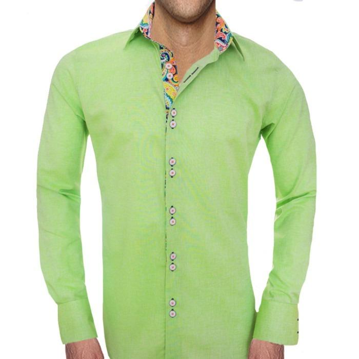 Lime-Green-Designer-Dress-Shirts