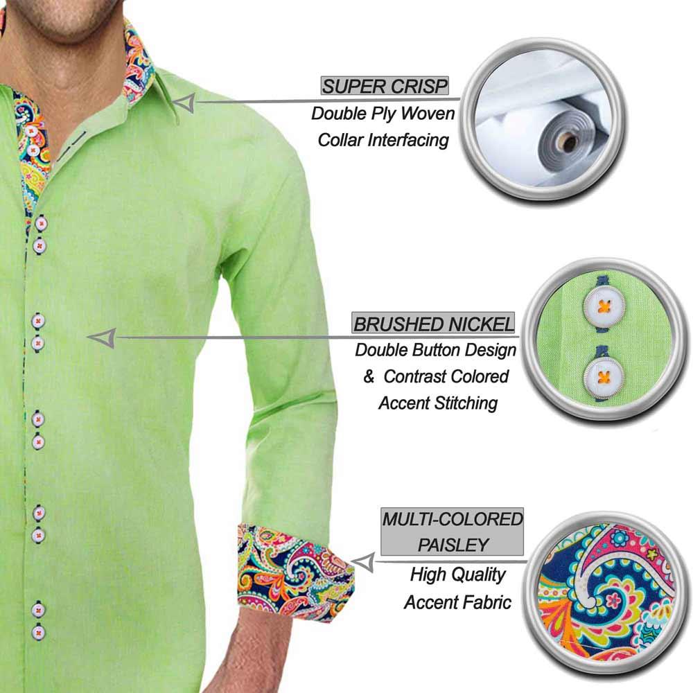 Lime Green Designer Shirts