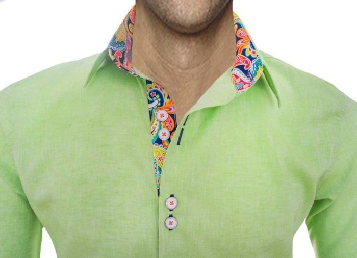 Lime-Green-Designer-Mens-Shirt