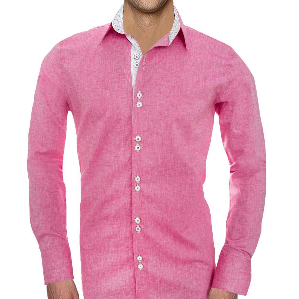 Pink-Linen-Mens-Shirts