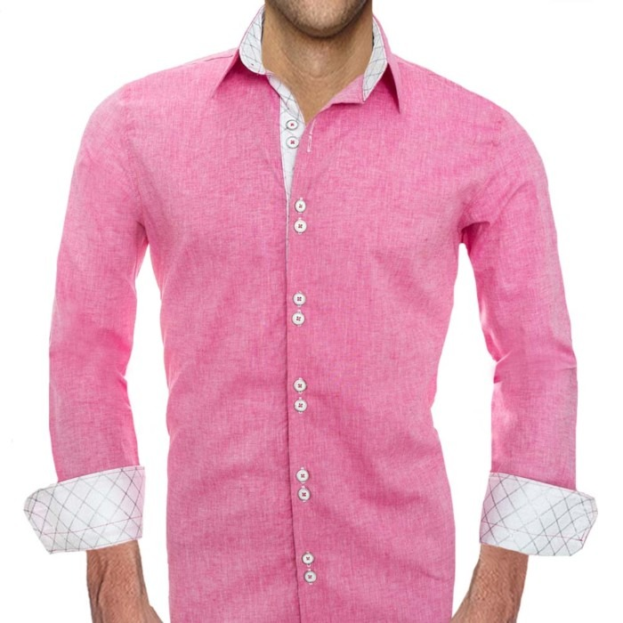 Pink-Mens-Designer-Dress-Shirts