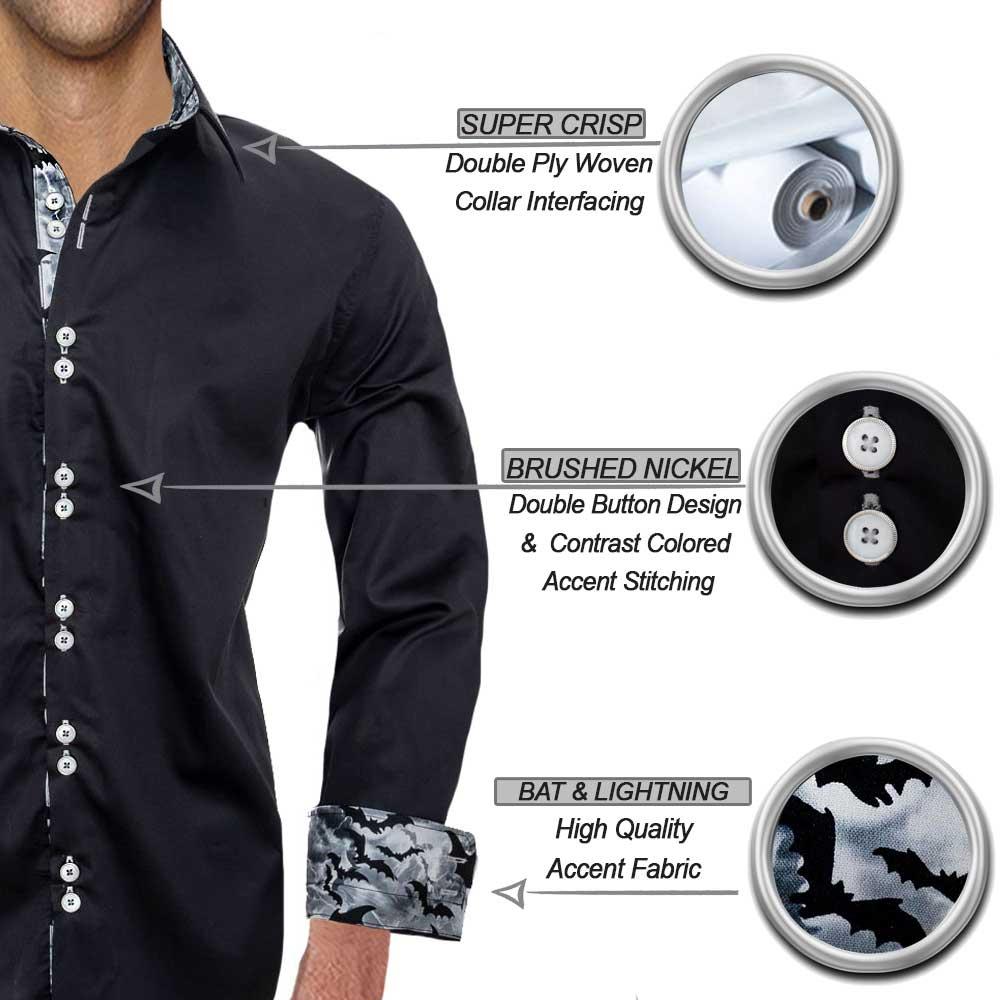 Black Halloween Dress Shirts