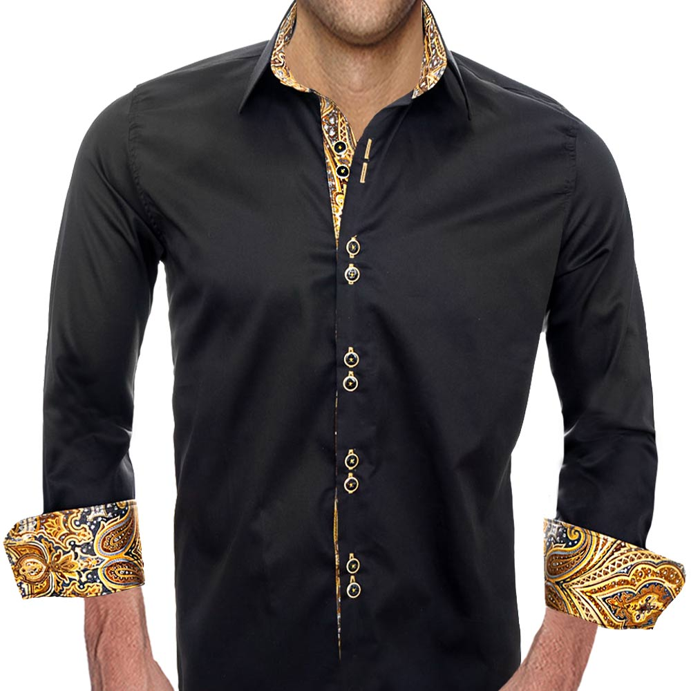 Black-Dress-Shirts-with-Gold-Accent