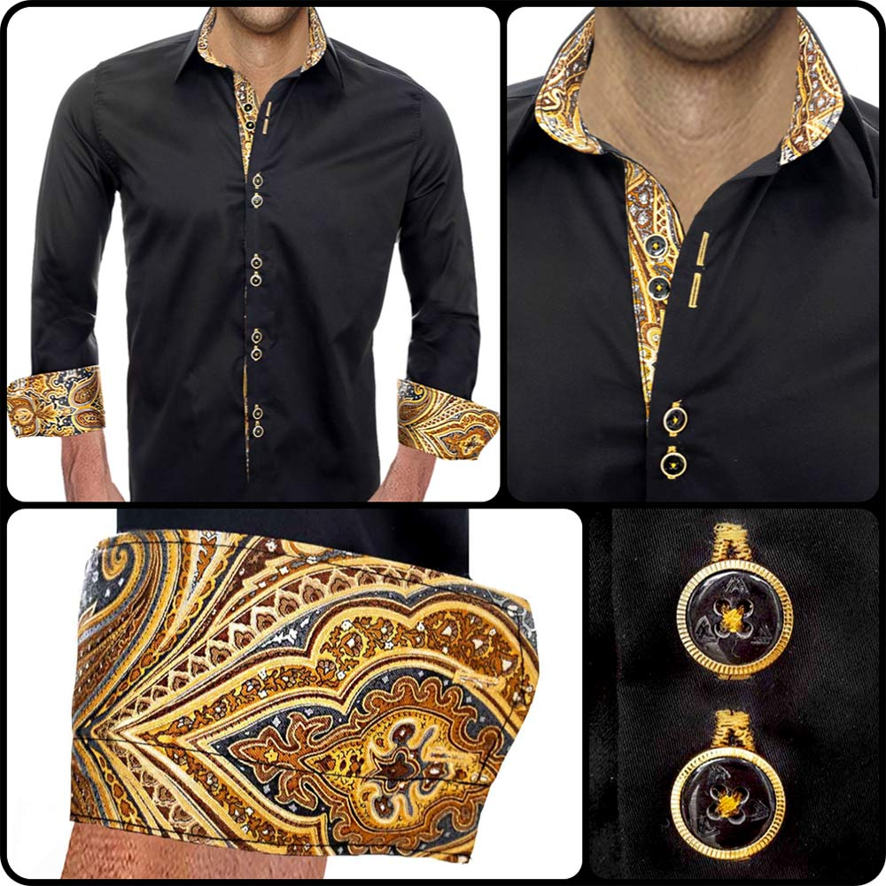 Black-with-Gold-Accent-Dress-Shirts
