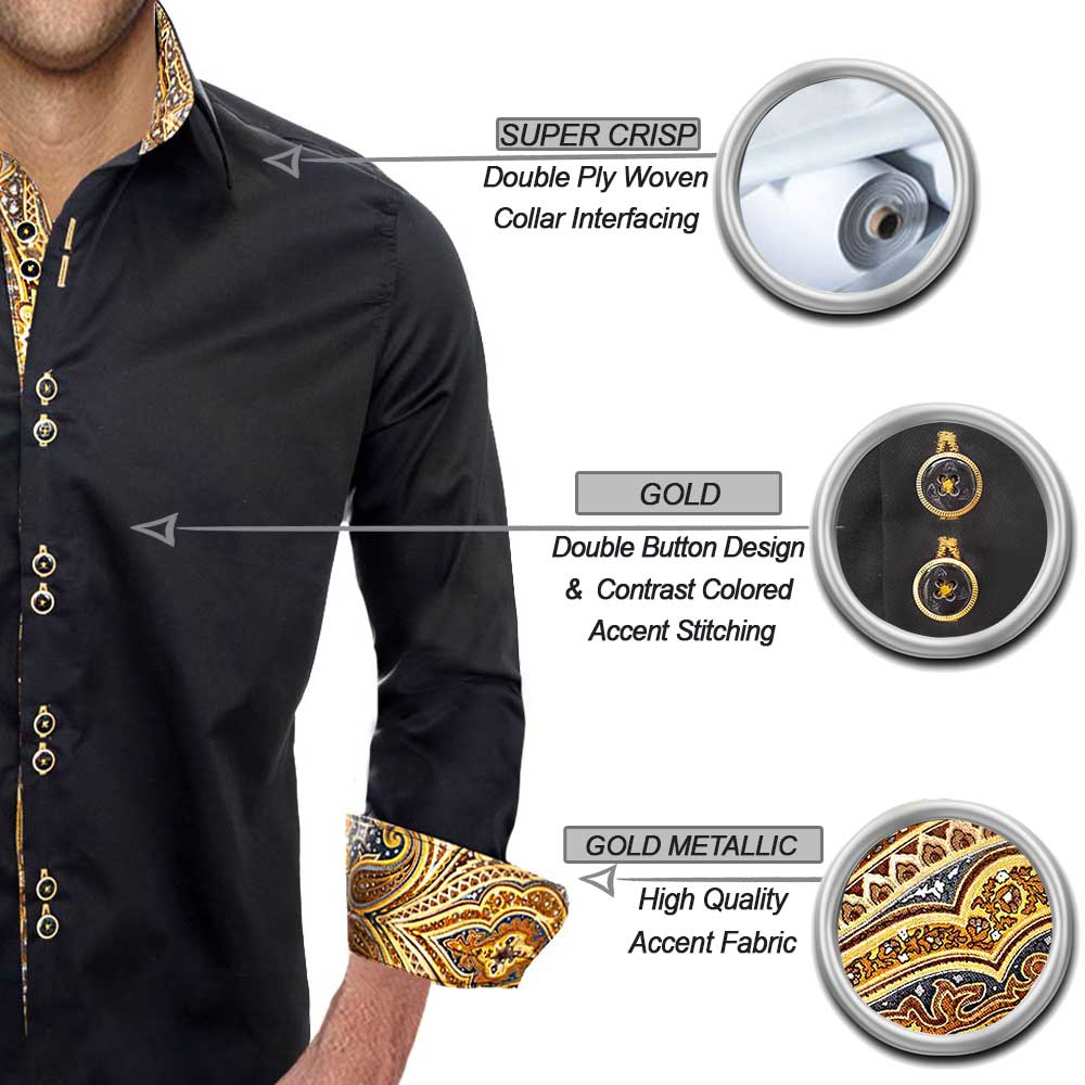 Black and Gold Dress Shirts