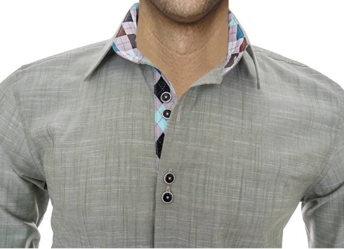 Olive-dress-shirt