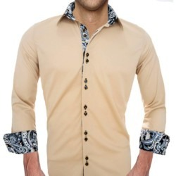 Tan-with-Black-Mens-Shirts