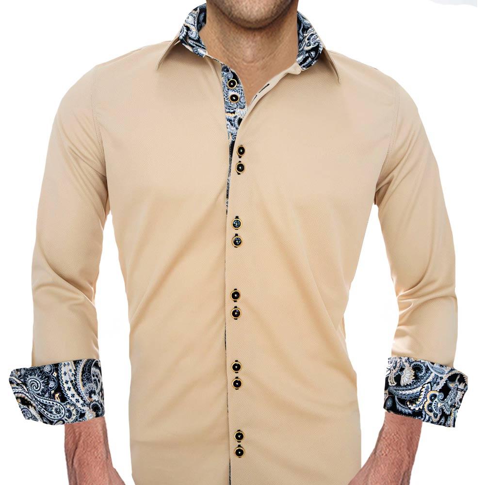 Tan-with-Black-Mens-Shirts