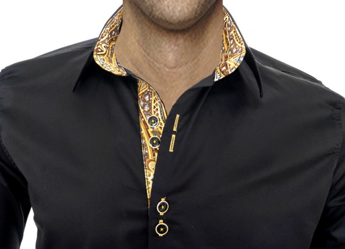 black-gold-dress-shirts