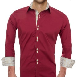maroon-and-tan-accent-dress-shirts