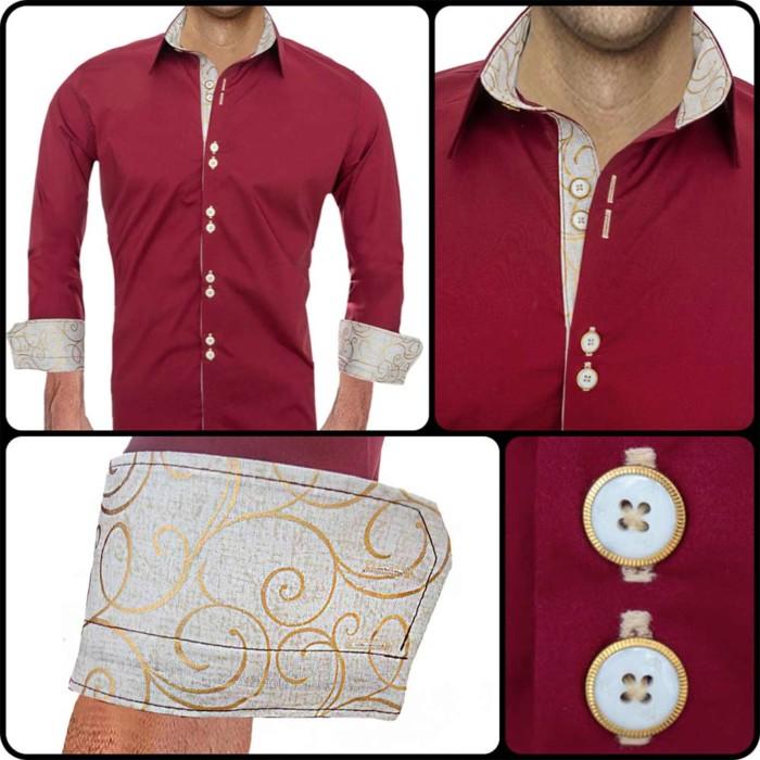 maroon-and-tan-dress-shirts