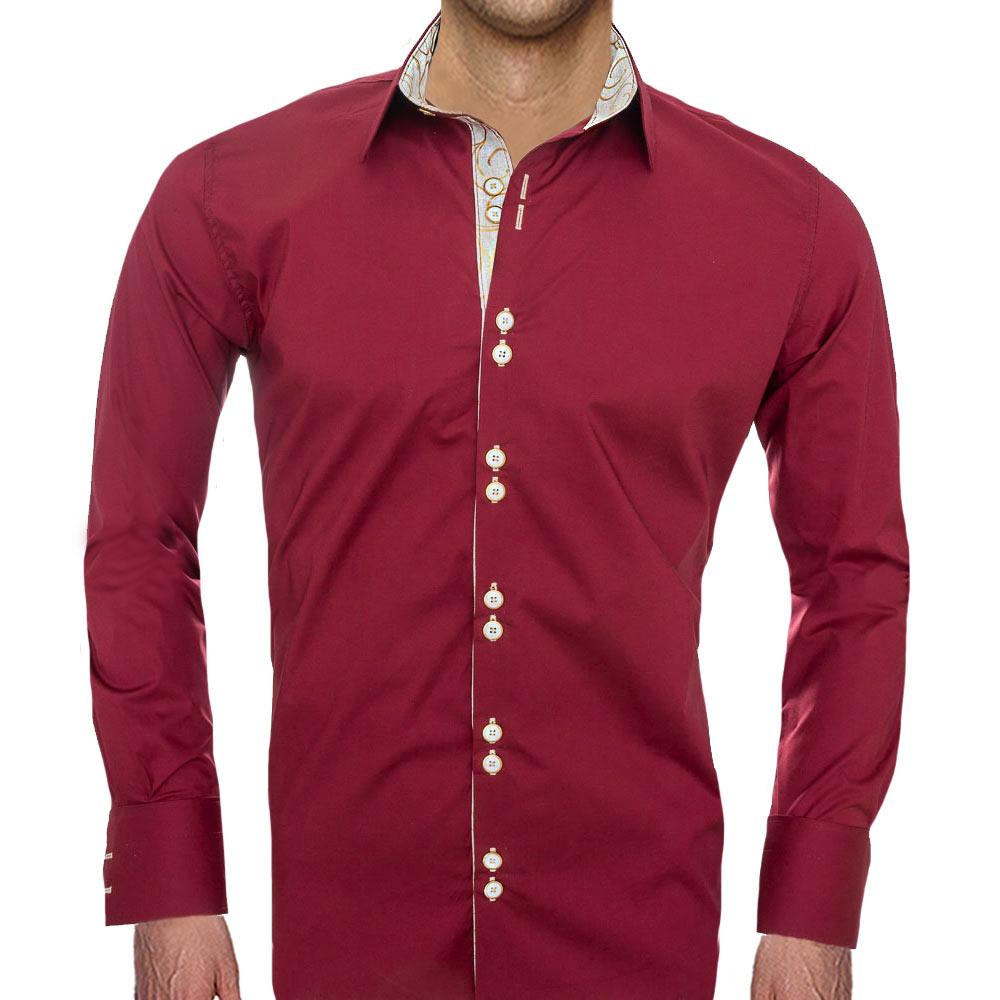 maroon-designer-dress-shirts