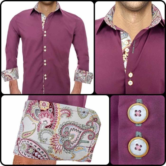 purple-and-pink-dress-shirt