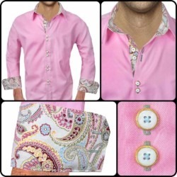 Pink and Olive dress shirts