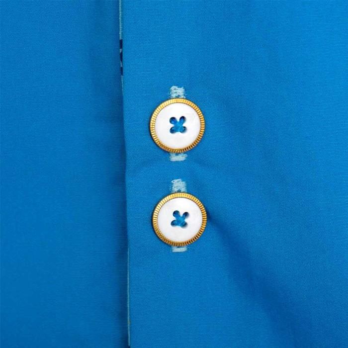 blue jewish style mens shirt