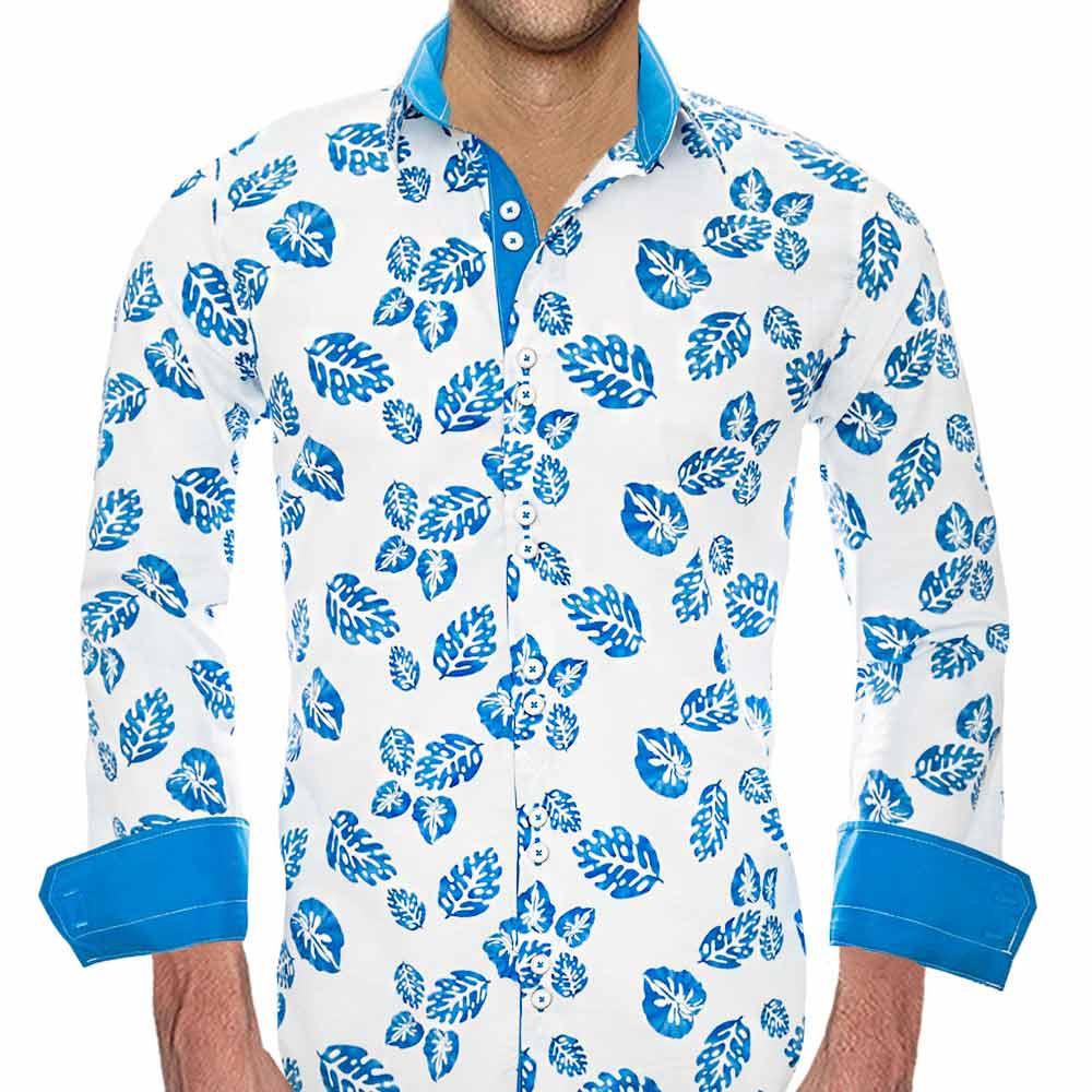 Mens Designer Dress Shirt: High tide